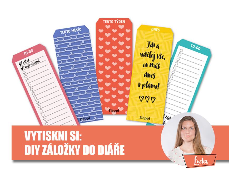 DIY návod - záložka do diáře, Fleppi.cz