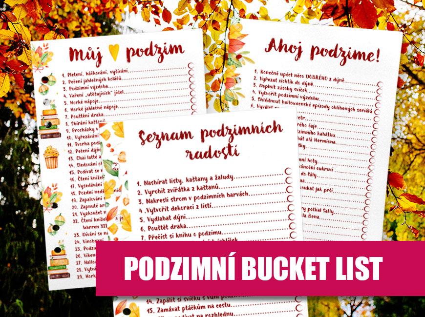 Podzimní bucket list