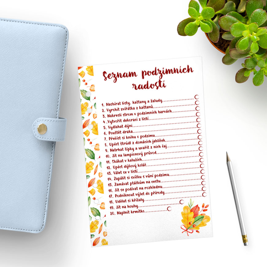 Silvi podzimní bucket list