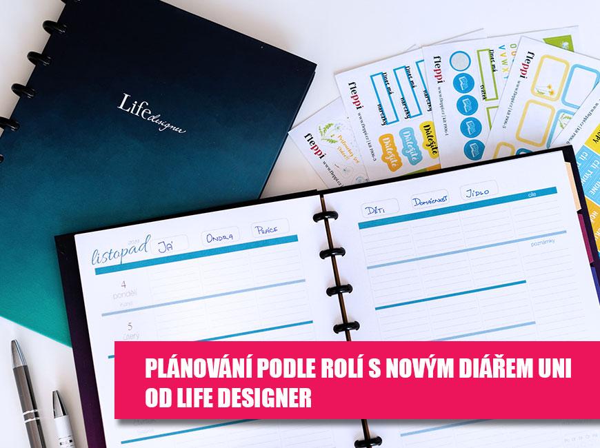 Plánování podle rolí s novým diářem Uni od Life Designer