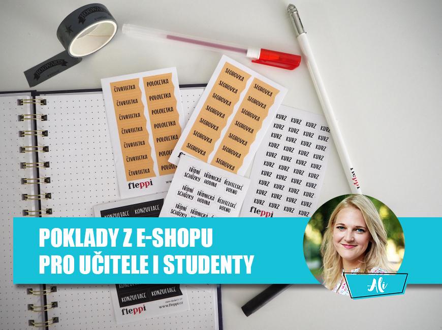 Samolepky do diáře pro učitele a studenty - Fleppi.cz