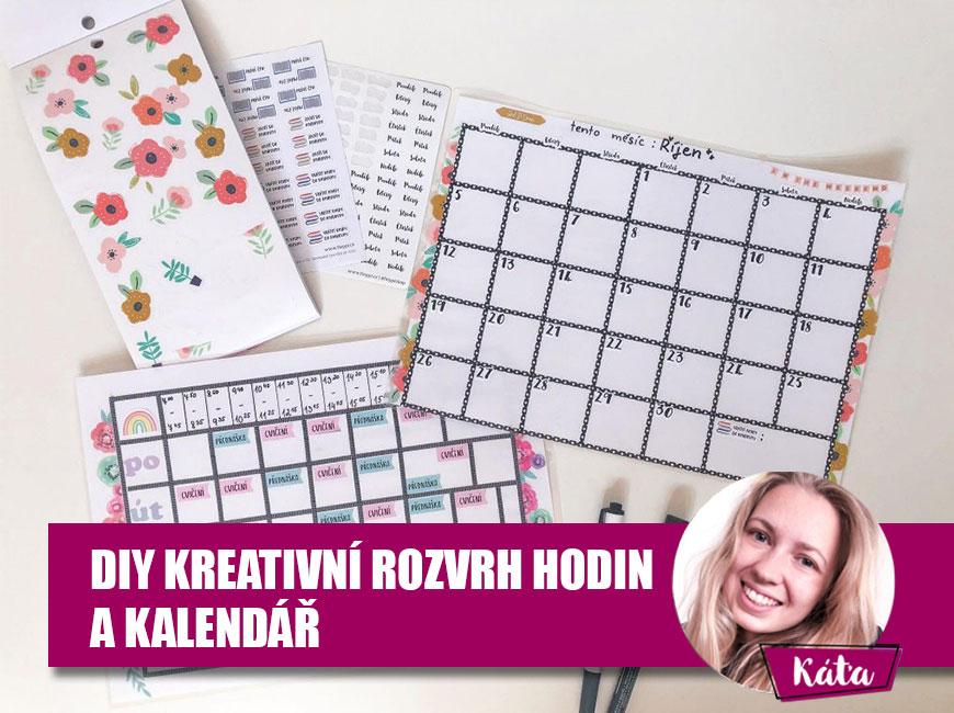 DIY kreativní rozvrh hodin a kalendář