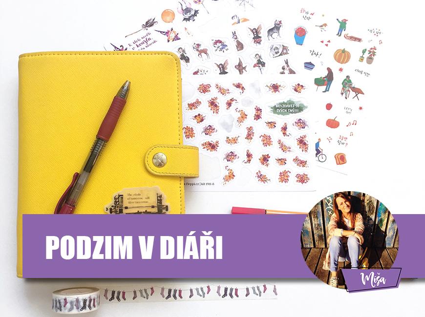 Podzimní náplně a nálepky do diáře - Fleppi.cz