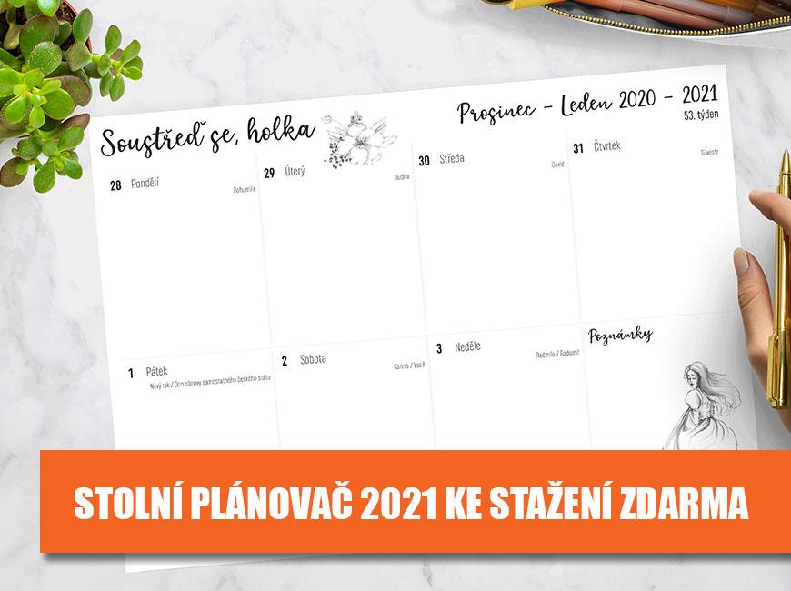 Stolní plánovač 2021 ke stažení zdarma