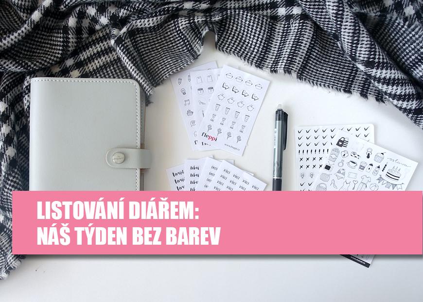 Listování diářem - Týdenní diář bez barev - Fleppi.cz