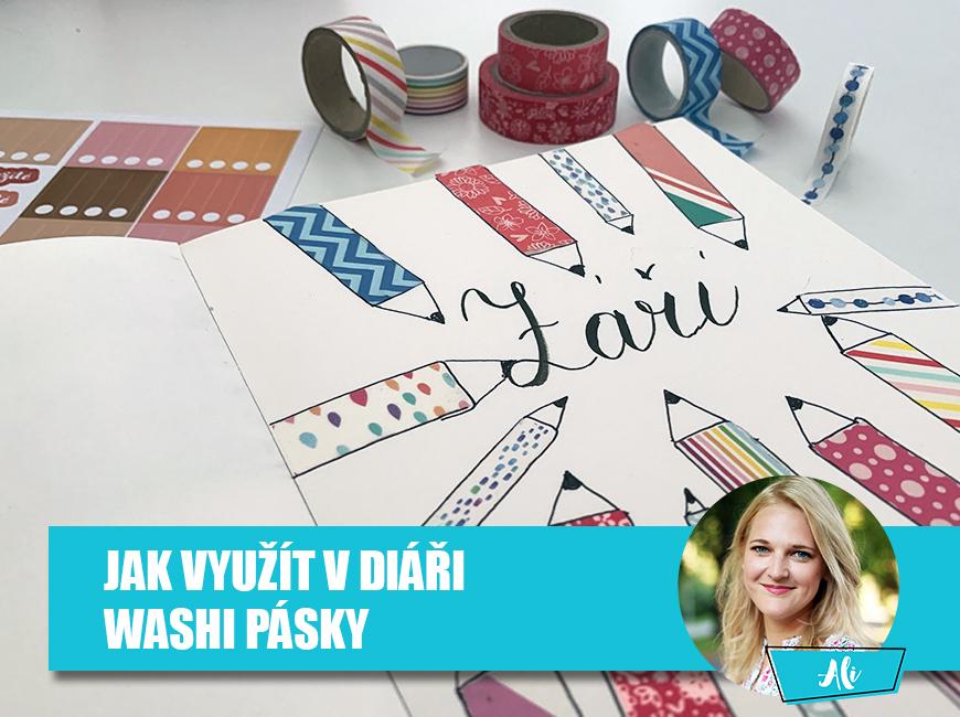 washi pásky v diáři - Fleppi.cz