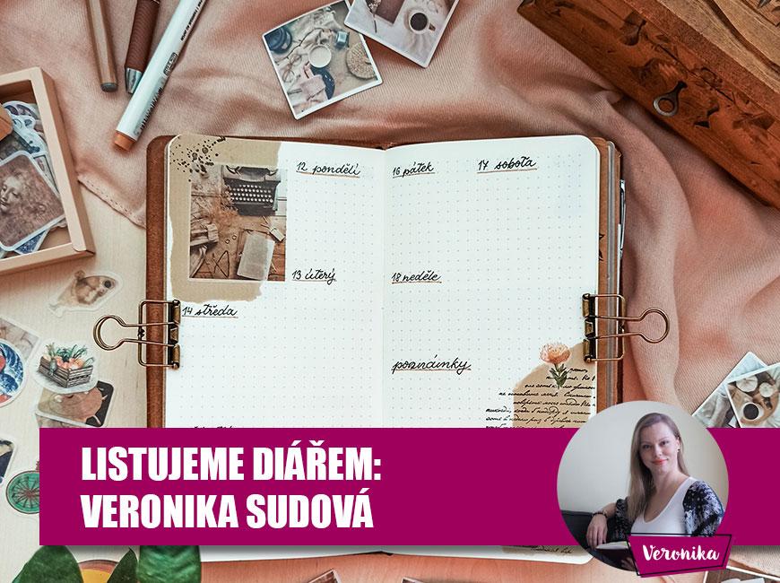 Listování diářem, bullet journal - Veronika Sudová, Fleppi.cz