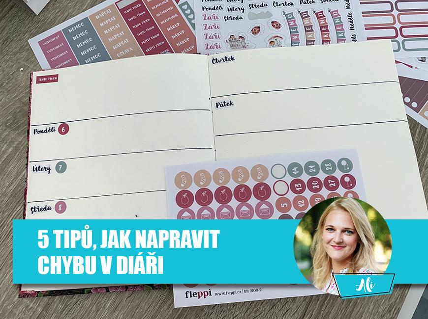 Jak opravit chybu v diáři - Fleppi.cz